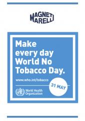 Magneti Marelli joins in the celebrations for World No Tobacco Day